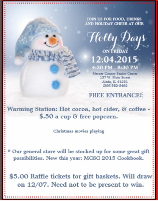 Mercer County Senior Center Holly Days